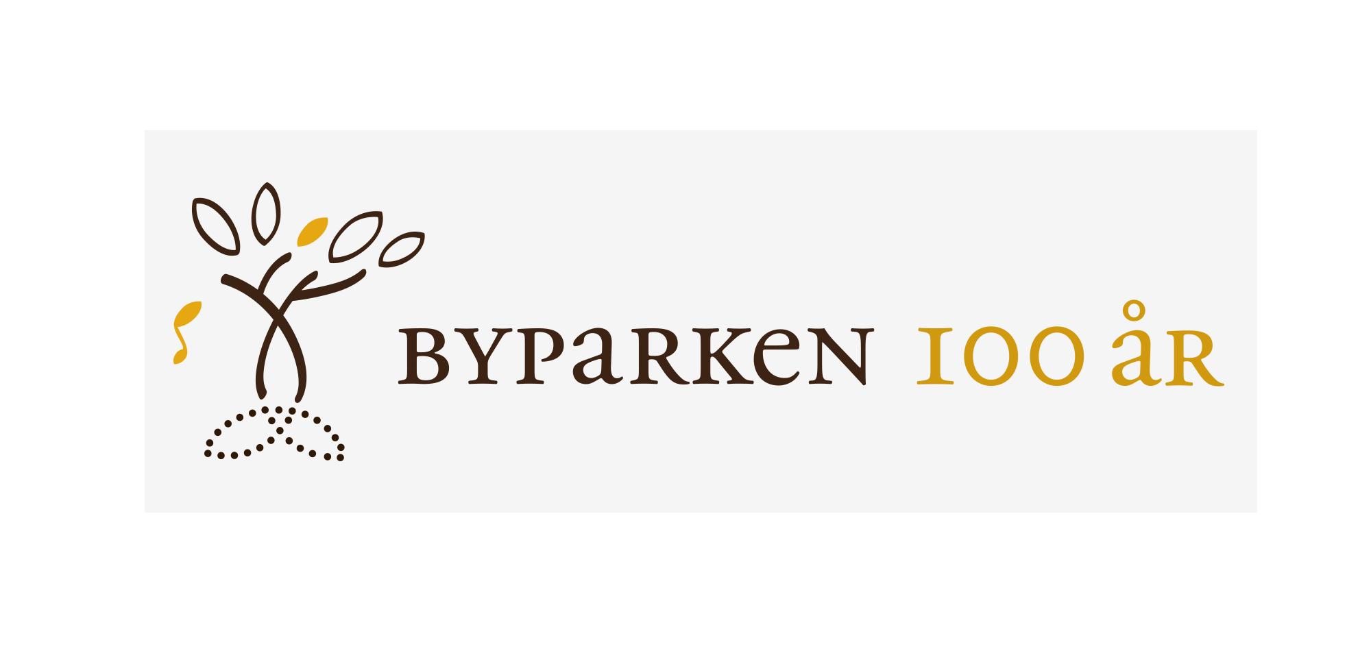 Logo for Byparken 100 år